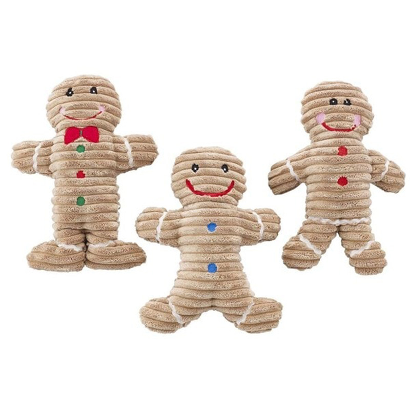 SPOT Holiday Corduroy Gingerbread Man 10in Assorted I014137