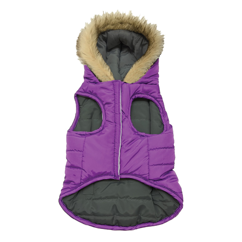 Ethical Products Fashion Pet™ Reversible Puffy Coats Purple I014149