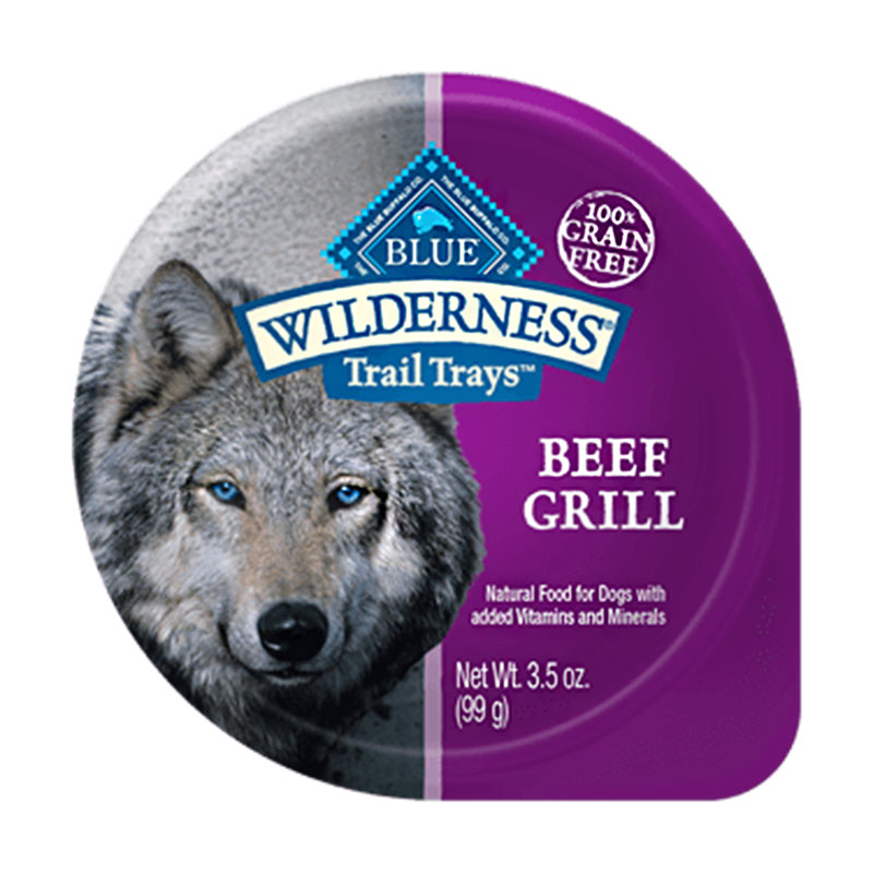 Blue Buffalo Wilderness Beef Grill Trail Tray Dog Food 3.5oz