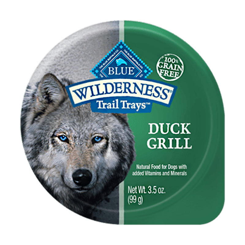 Blue Buffalo Wilderness Duck Grill Trail Tray Dog Food 3.5oz.