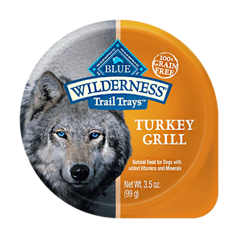 Blue Buffalo Wilderness Turkey Grill Trail Tray Dog Food 3.5oz