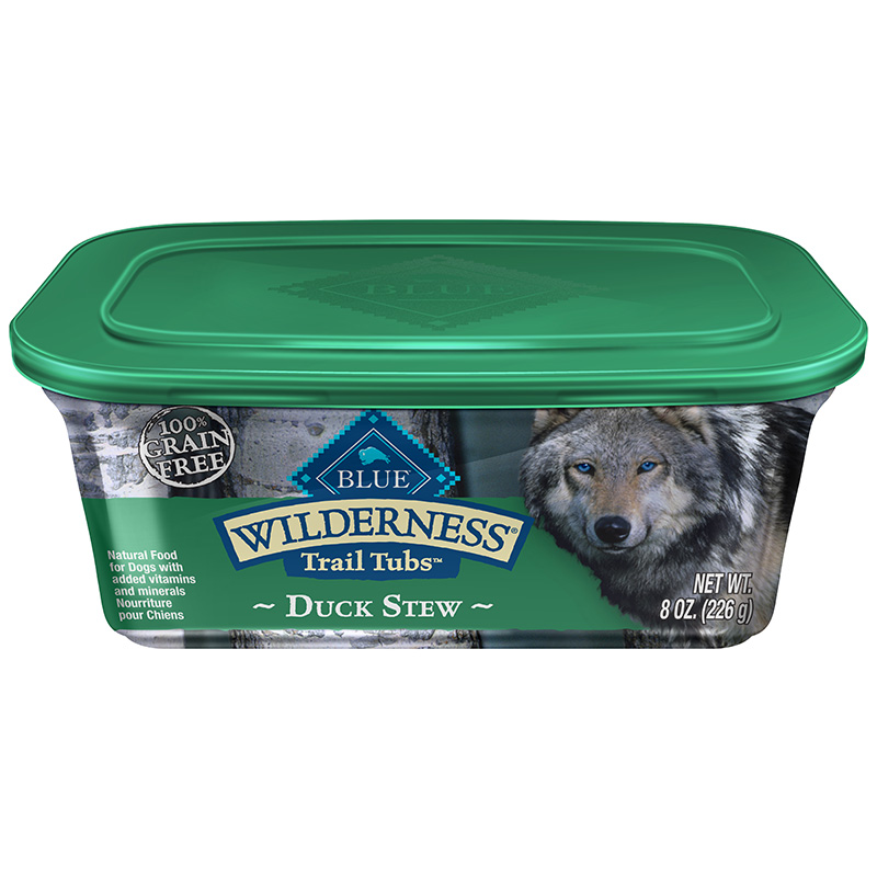Blue Buffalo Wilderness Trail Tubs Duck Stew Dog Food 8oz.
