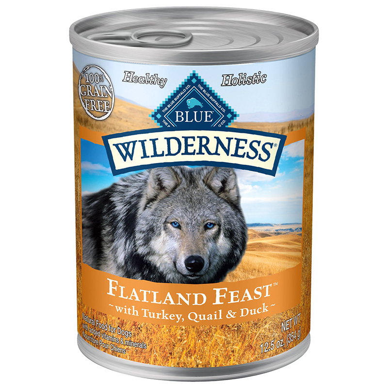 Blue Buffalo Flatland Feast™ with Turkey, Quail & Duck 12.5 oz. Can I014196