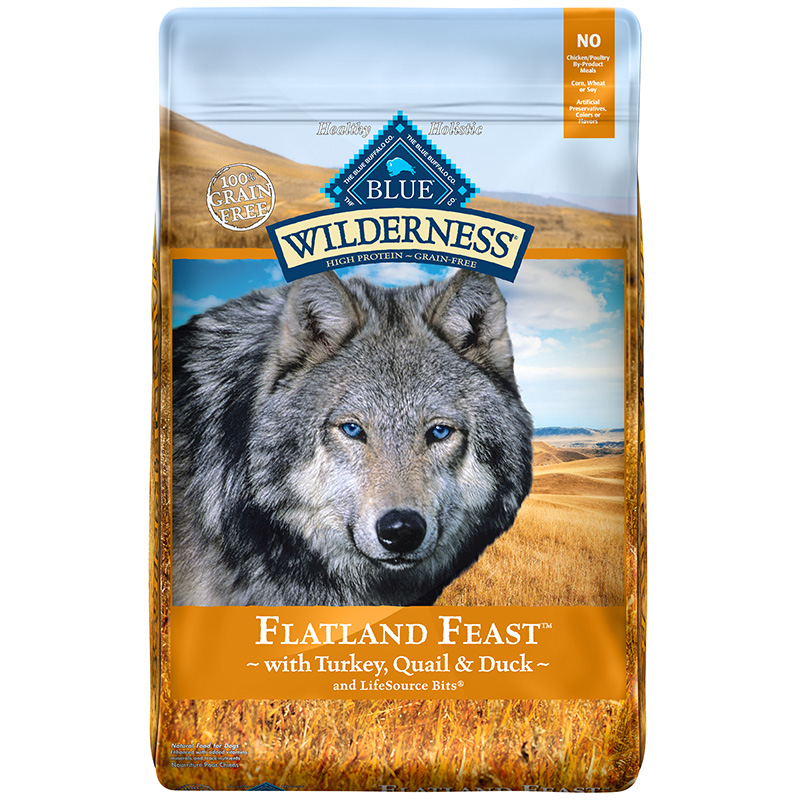 Blue Buffalo Wilderness Flatland Feast Dry Dog Food I014198b