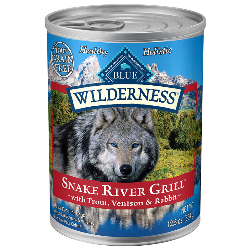 Blue Buffalo Wilderness Snake River Grill Wet Dog Food 12.5oz.