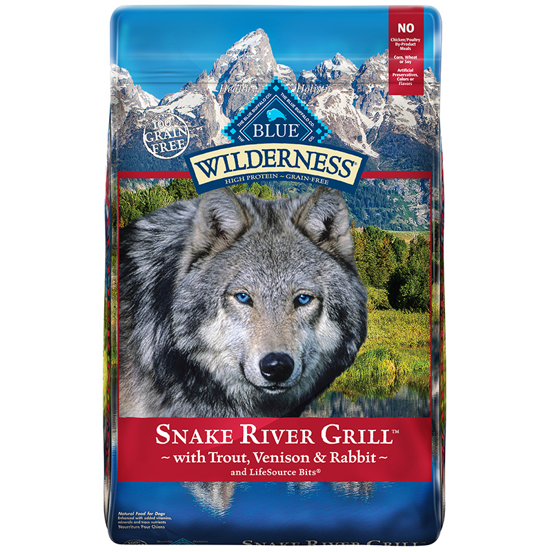 Blue Buffalo Wilderness Snake River Grill Dry Dog Food I014201b