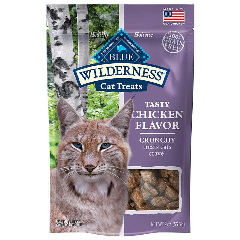 Blue Buffalo Wilderness Crunchy Chicken Flavor Cat Treats 2oz