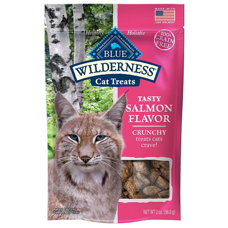 Blue Buffalo Wilderness Crunchy Salmon Flavor Cat Treats 2oz