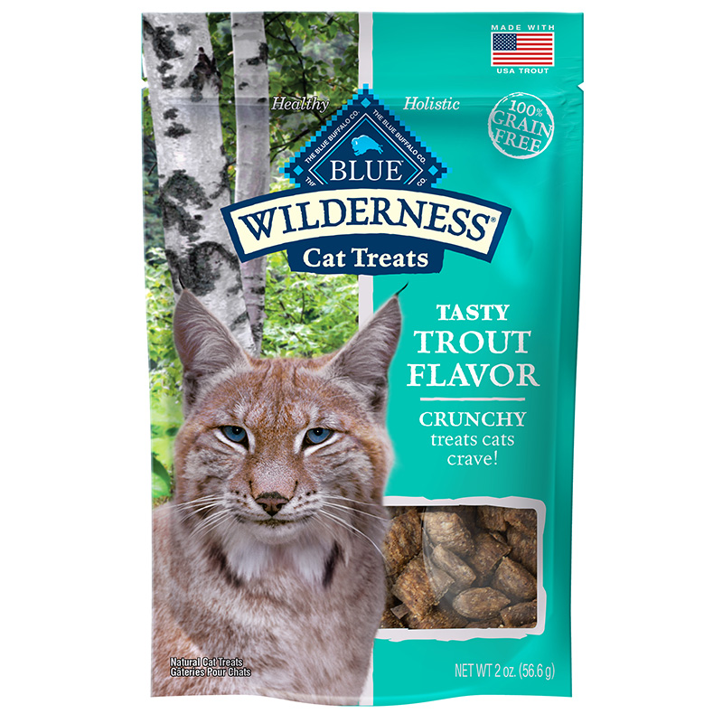 Blue Buffalo Wilderness Crunchy Trout Flavor Cat Treats 2oz