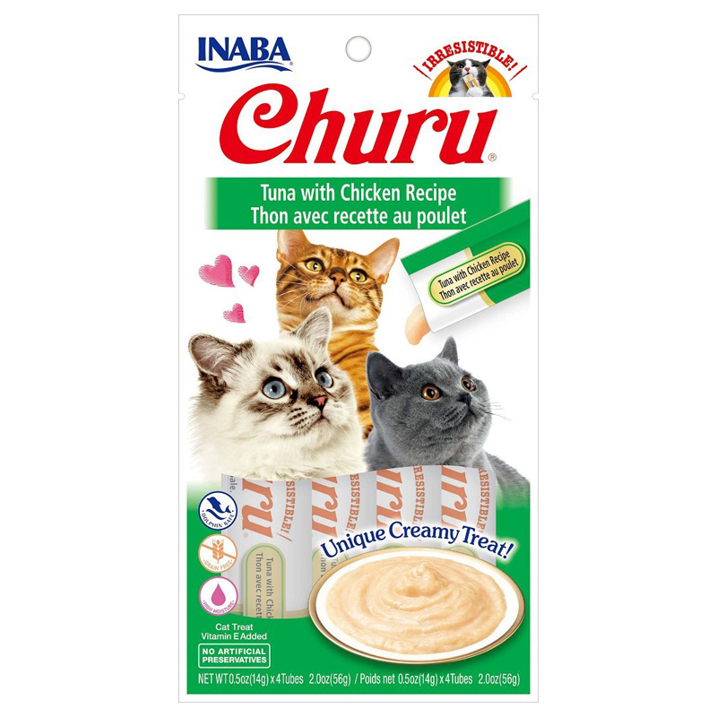 Inaba Ciao Churu Tuna/Chicken Cat Treat .5oz I014296