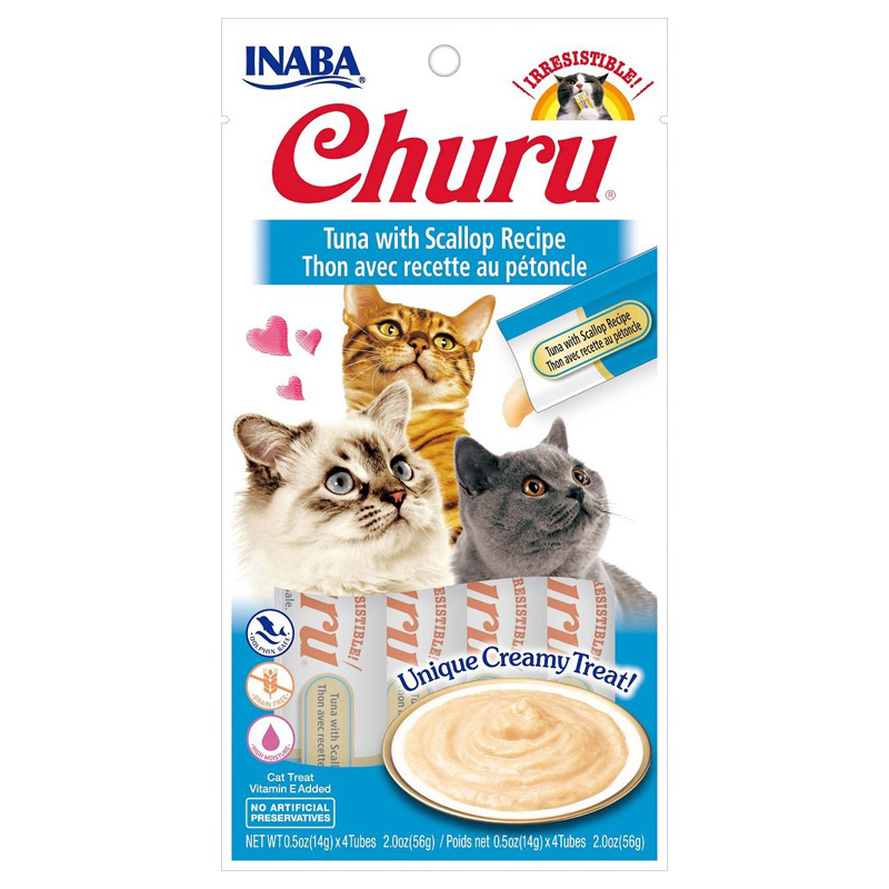 Inaba Ciao Churu Tuna/Scallop Cat Treat .5oz I014298
