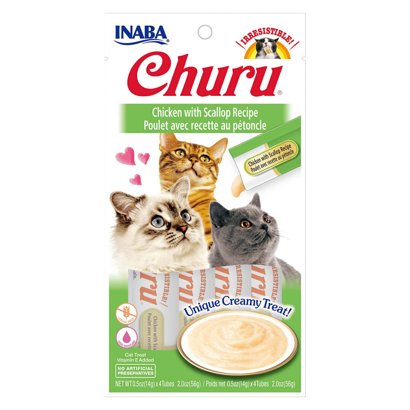 Inaba Ciao Churu Chicken/Scallop Cat Treat .5oz I014299