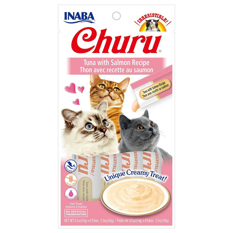 Inaba Ciao Churu Tuna/Salmon Cat Treat .5oz I014300