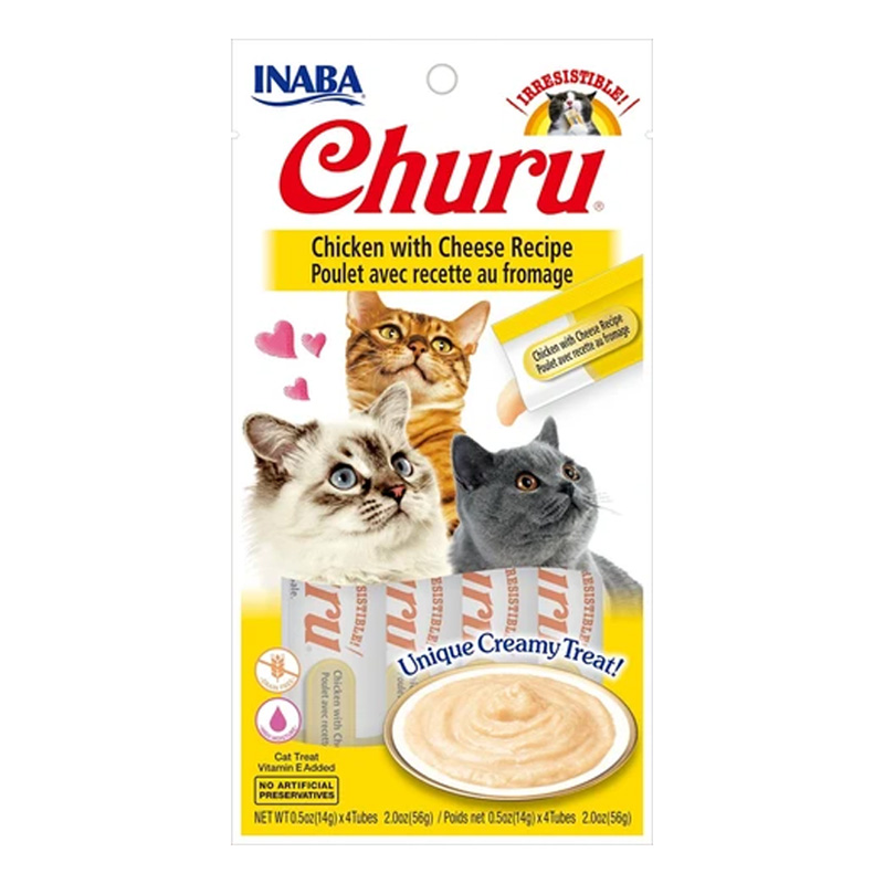 Inaba Ciao Churu Chicken/Cheese Cat Treat .5oz I014301