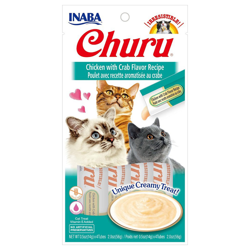 Inaba Ciao Churu Chicken/Crab Cat Treat .5oz I014303
