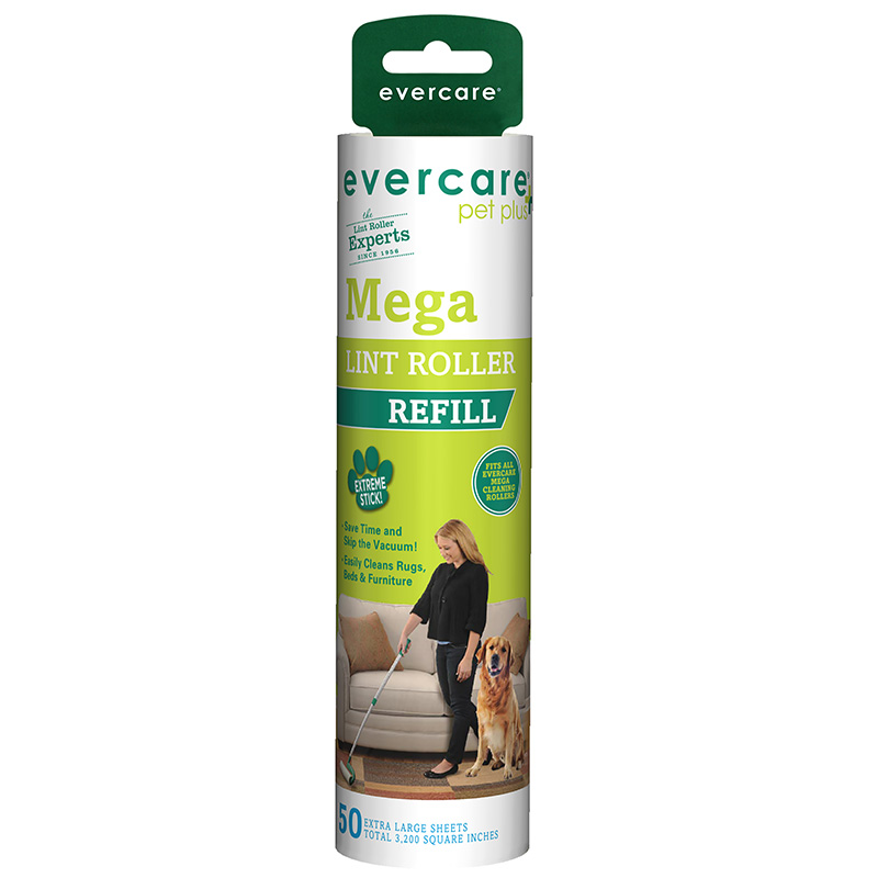 Evercare Pet Plus Mega Lint Roller Refill 50 Sheets I014356