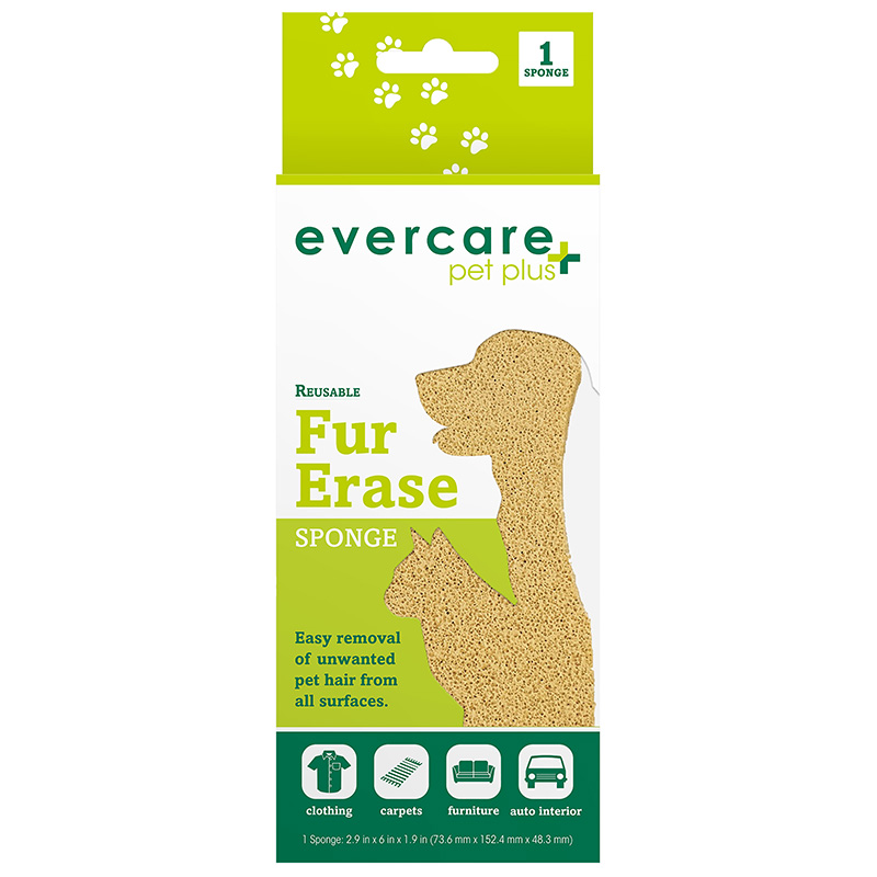 Evercare Pet Plus Reusable Fur Erase Sponge I014357