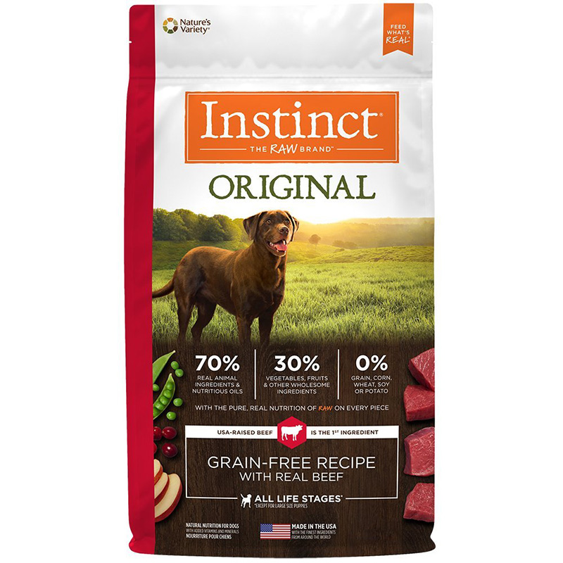 Instinct Original Grain-Free Recipe with Real Beef Dry Dog Food I014385b