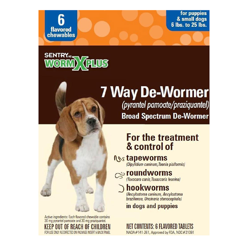 Sentry® WormX Plus 7 Way De-Wormer For Small Dogs 6 Ct. I014387