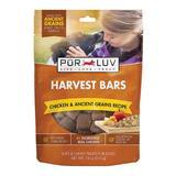 Pur Luv Harvest Bars Chicken & Ancient Grains Recipe Dog Treats 18 oz I014392