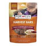 Pur Luv Harvest Bars Turkey & Ancient Grains Recipe Dog Treats 18 oz I014393