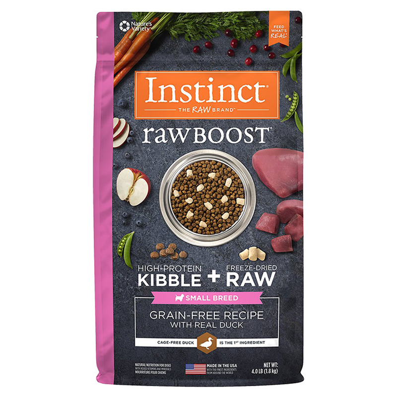 Instinct Raw Boost Grain-Free Recipe with Real Duck for Small Breed Dogs 4 lbs. I014403