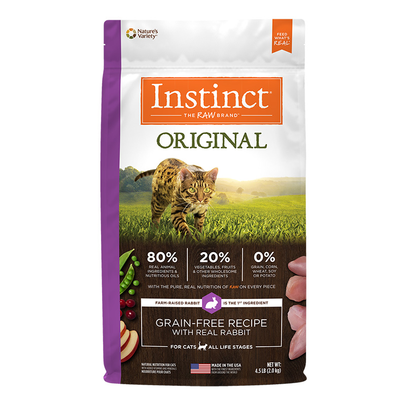 Nature's Variety Original Grain-Free Recipe with Real Rabbit Dry Cat Food 4.5 Lb. Bag I014406