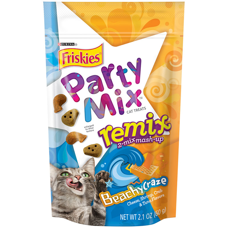 Friskies Party Mix Remix Beachy Craze Cat Treat 2.1oz I014421