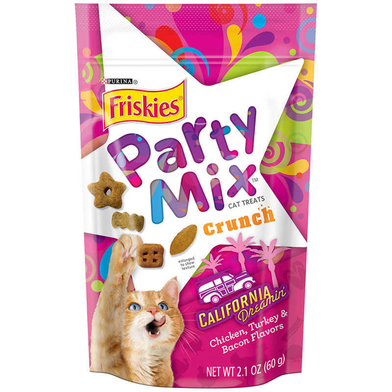 Friskies Party Mix Crunch California Dreamin' Cat Treats 2.1oz I014425
