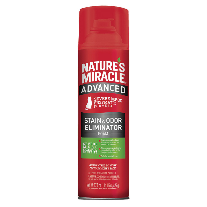 Nature's Miracle® Just For Cats Advanced Stain and Odor Eliminator Foam Aerosol  17.5 oz. I014459