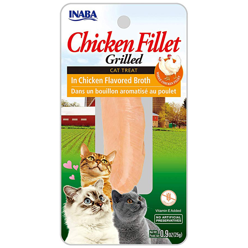 Inaba Ciao Grilled chicken in Chicken Broth Cat Treat 0.9 oz  I014465