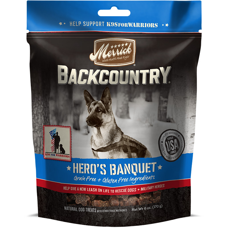 Merrick Backcountry Hero's Banquet Treats Dog Chews 6 oz. I014485