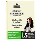 Natural Flea & Tick Topical Med Dogs 25-50 lb. 5 Pk. I014542