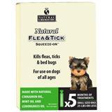 Natural Flea & Tick Topical Dogs Under 25 lbs. 5 Pk. I014543