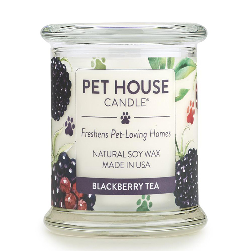 One Fur All Pet House Candle Blackberry Tea  8.5 oz. I014550