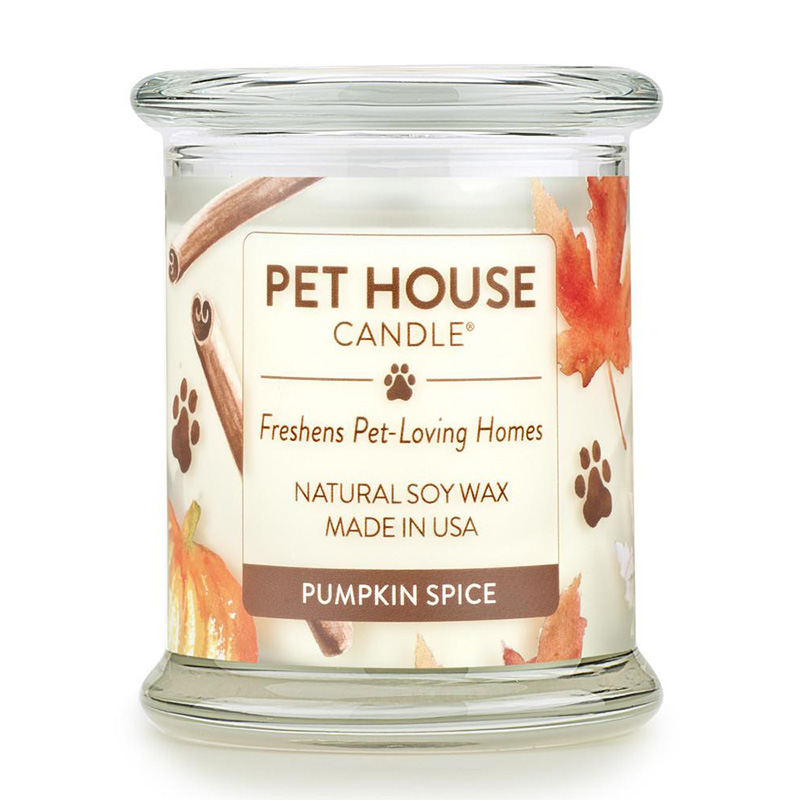 One Fur All Pet House Candle Pumpkin Spice Candle 8.5 oz. I014552