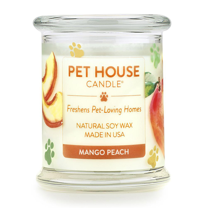 One Fur All Pet House Candle Mango Peach Candle 8.5 oz. I014553