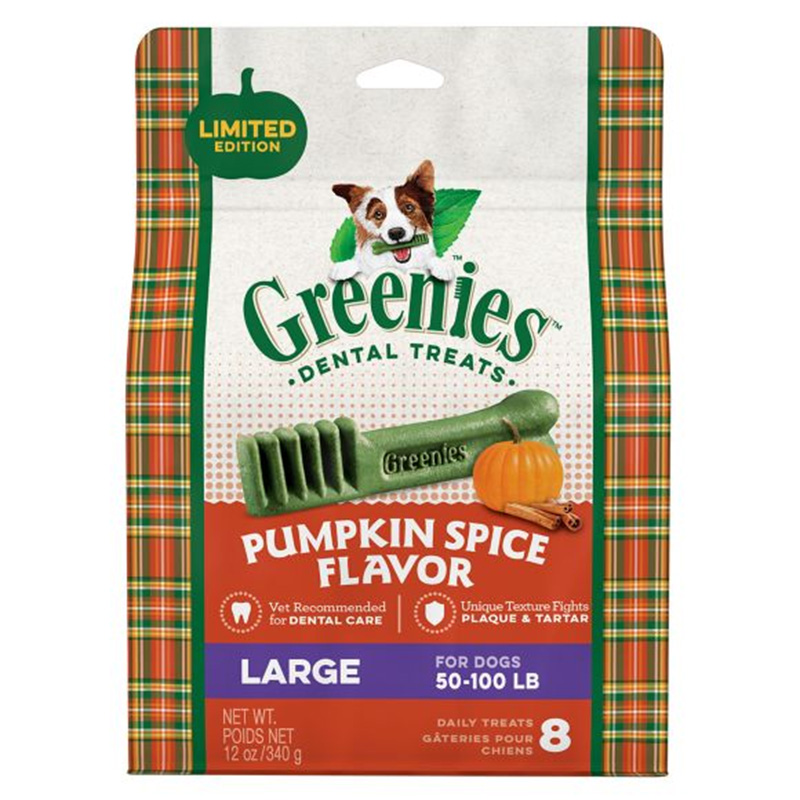 Greenies Large Pumpkin Spice 12oz I014604