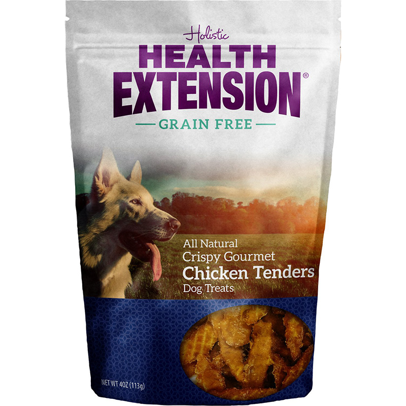 Holistic Health Extension Grain Free Crispy Gourmet Chicken Tenders Dog Treat 4 oz. I014627