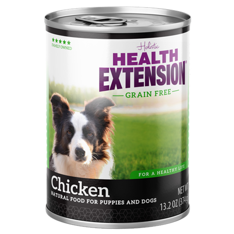 Health Extension Grain Free Chicken Natual Food for Puppies & Dogs 13.2 oz I014628