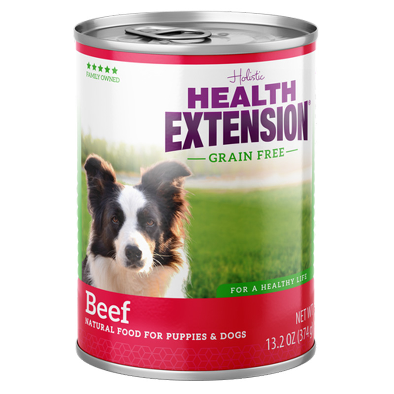 Health Extension Grain Free Beef Natural Food for Puppies & Dogs 13.2 oz. I014629