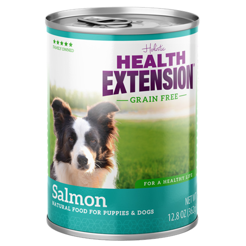 Health Extension Grain Free Salmon Natural Food for Puppies & Dogs 13 oz. I014631