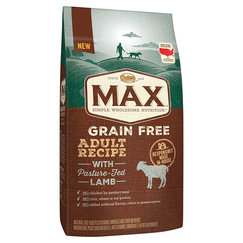 NUTRO MAX Adult Grain Free Recipe with Pasture Fed Lamb