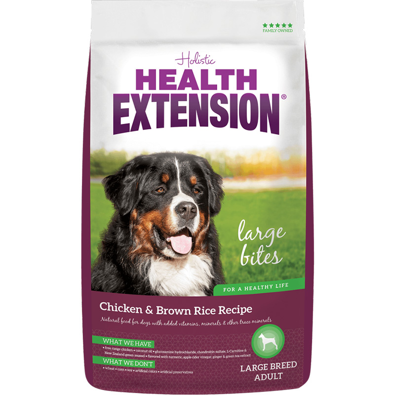 Health Extension Large Bites Chicken & Brown Rice Recipe 30 lbs. I014726