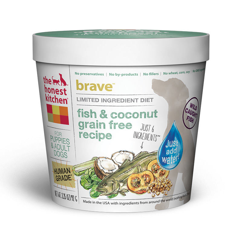 The Honest Kitchen Brave Fish & Coconut Grain-Free Single Serve Cup 3.25oz I014740