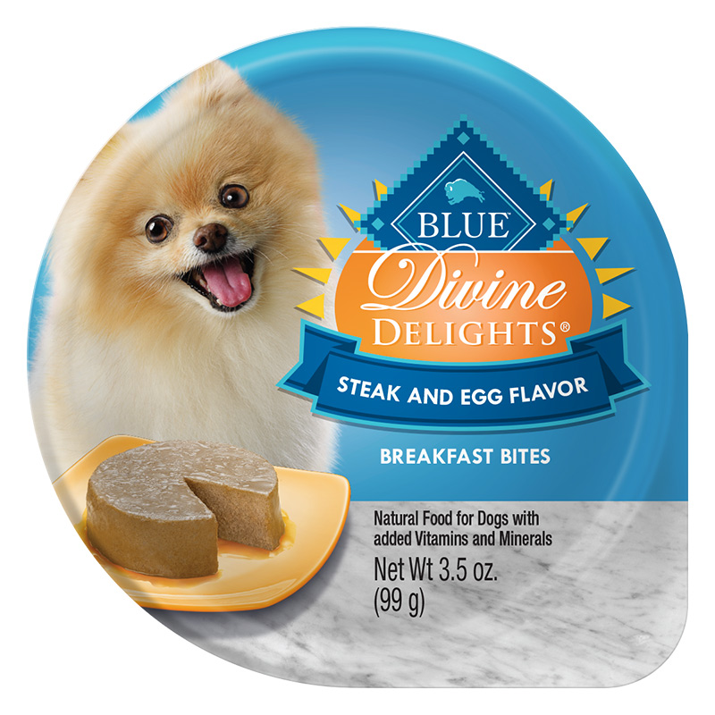 Blue Buffalo Divine Delights Steak and Egg Breakfast Bites for Dogs 3.5 oz. Tray I014770