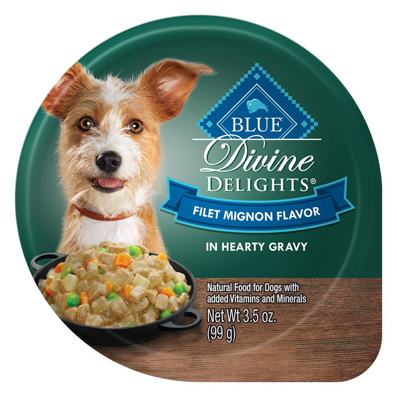 Blue Buffalo Divine Delights Filet Mignon Flavor in Hearty Gravy for Dogs 3.5 oz. Tray I014783