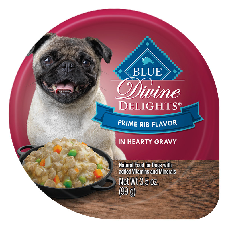 Blue Buffalo Divine Delights Prime Rib Flavor in Hearty Gravy for Dogs 3.5 oz. Tray I014785