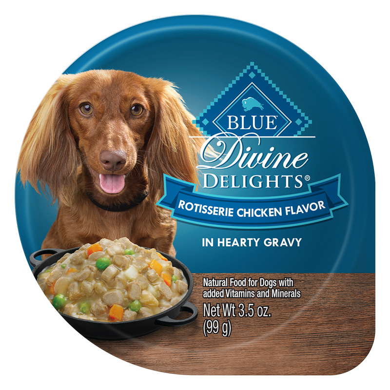 Blue Buffalo Divine Delights Rotisserie Chicken Flavor in Hearty Gravy for Dogs 3.5 oz. Tray I014786