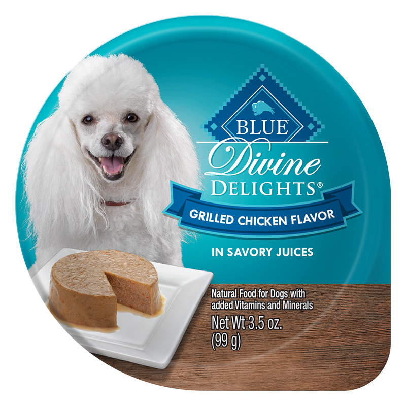 Blue Buffalo Divine Delights Grilled Chicken Flavor in Savory Juices for Dogs 3.5 oz. Tray I014791